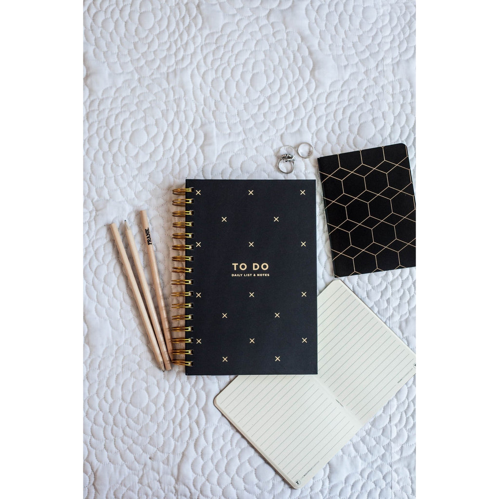 Frank To Do Daily List & Notes - Black
