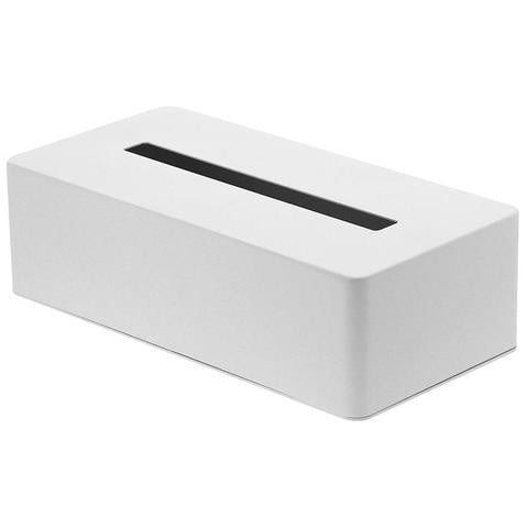 Tower Tissue Box Case - White Bathroom Accessories Default Title Yamazaki