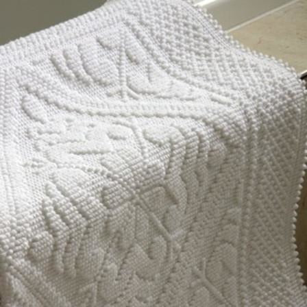 White Avignon Bath Mat