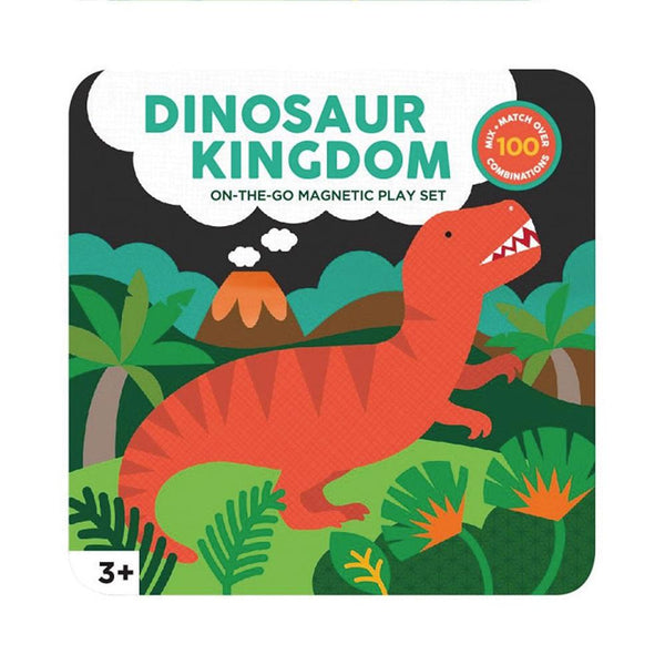 Dinosaur Kingdom On The Go Magnetic Play Set Play Default Title Petit Collage