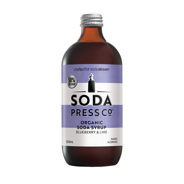 Organic Blueberry and Lime Soda + Mixing Syrup Larder Default Title Soda Press