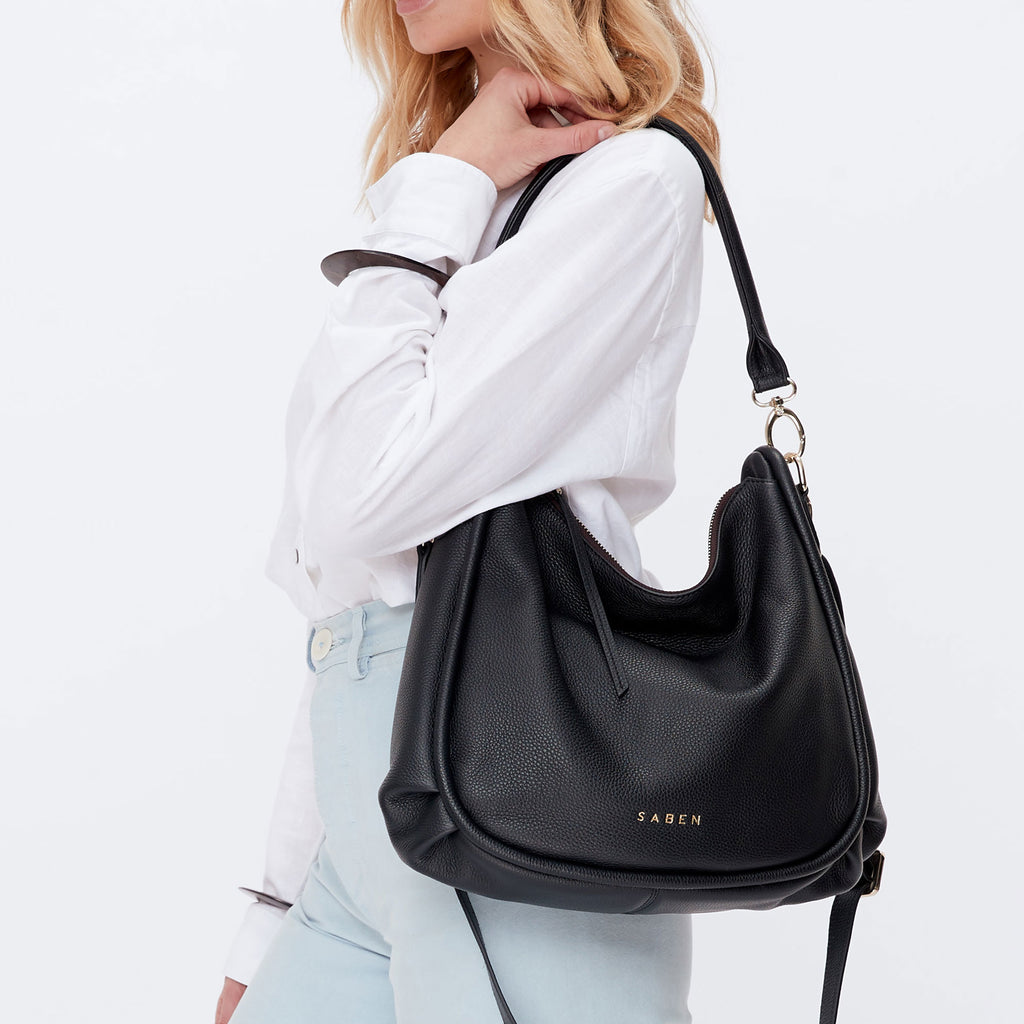 Saben Black Leather Bromley Bag