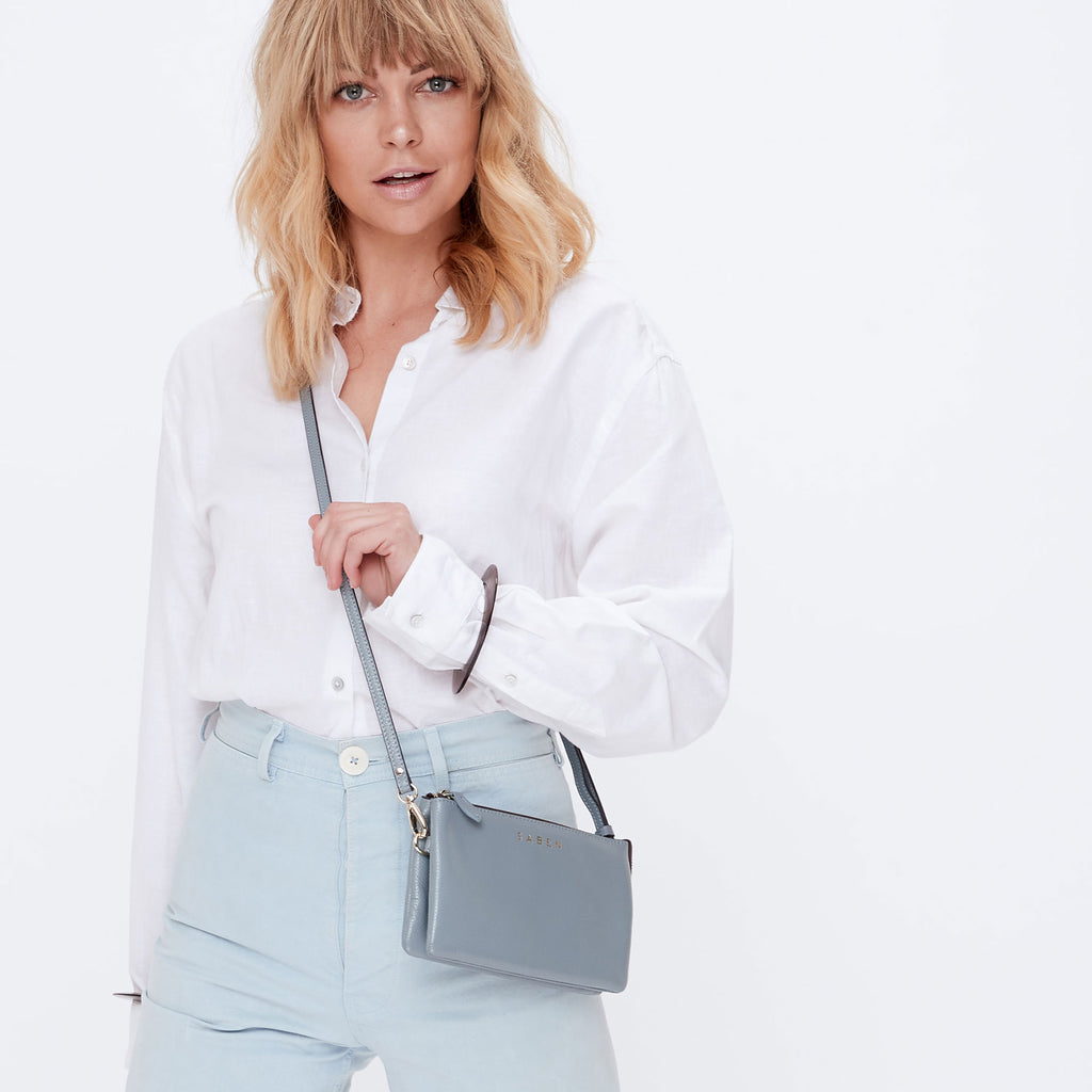 Saben Grey Blue Tilly Bag with Strap