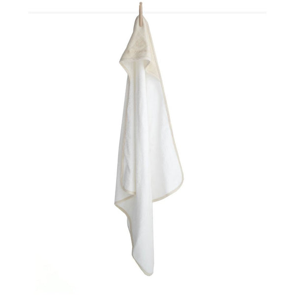 Organic Cotton Baby Hooded Towel - 2 Colours Baby Almond Burrow & Be