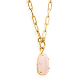 Fifth Symphony Rose Quartz Amulet - 2 Colours Necklaces + Pendants Silver,Gold Cathy Pope