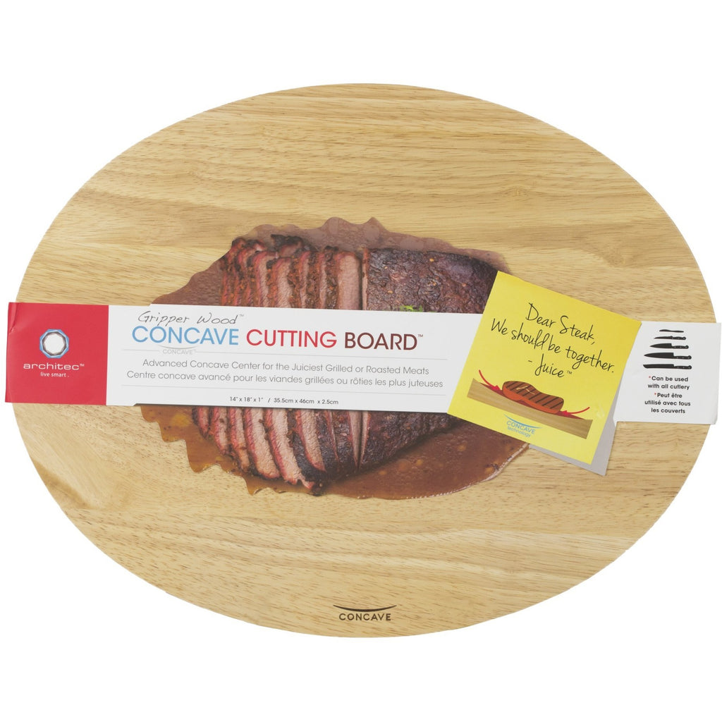 Architect Concave Gripperwood Meat Carving Board, Meat Cutting Board, Concave Wooden Carving Board