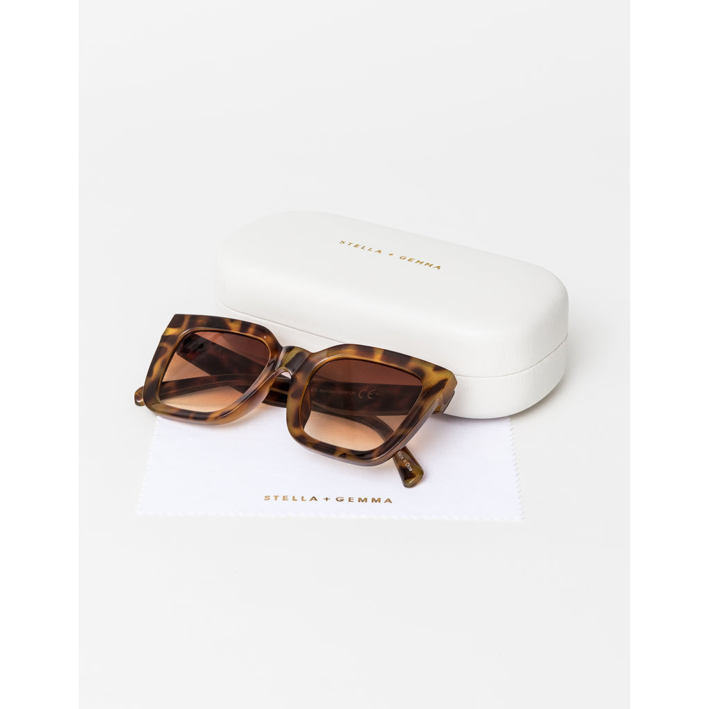 Stella & Gemma Sunglasses, Audrey Sunglasses Tortishell Sunglasses