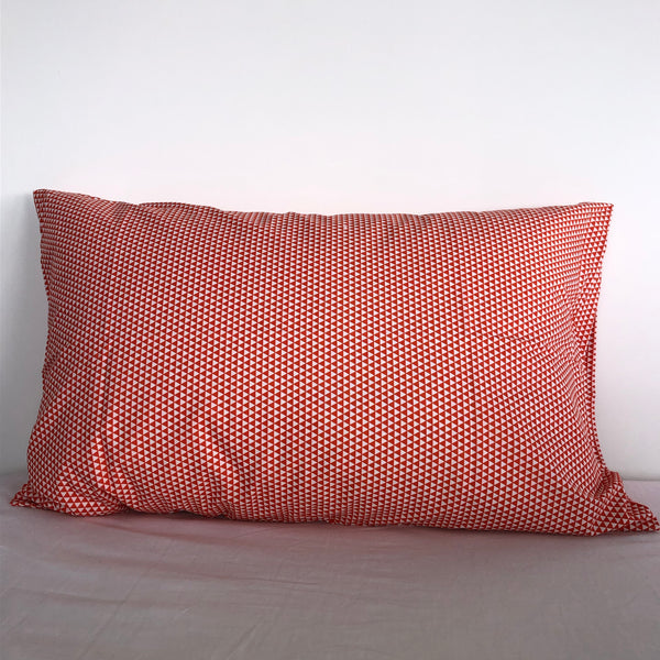 Orange Triangle Cotton Pillowcase
