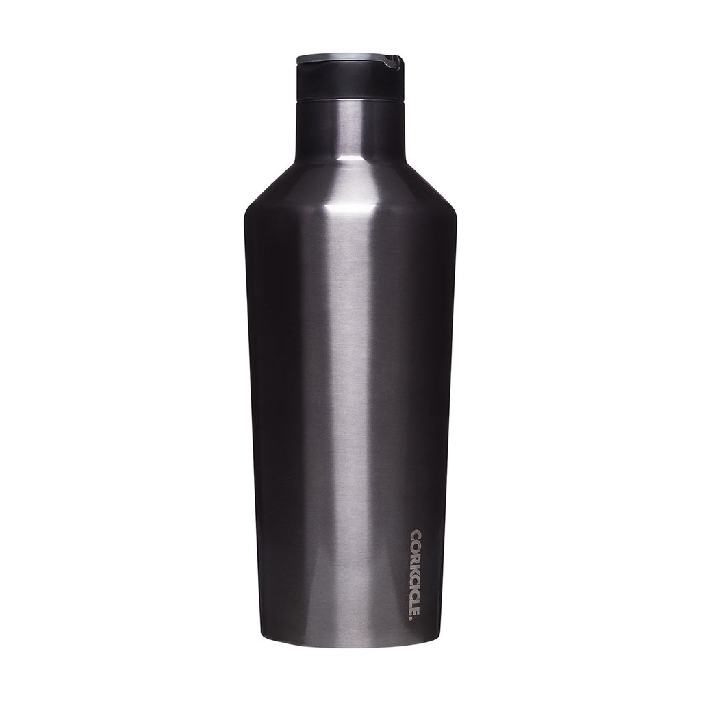 Metallic Sports Canteen 600ml - Gunmetal Insulated Stainless Steel Bottle Water Bottles Default Title Corkcicle