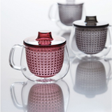 Kinto Unimug Glass Mug with Strainer and Lid