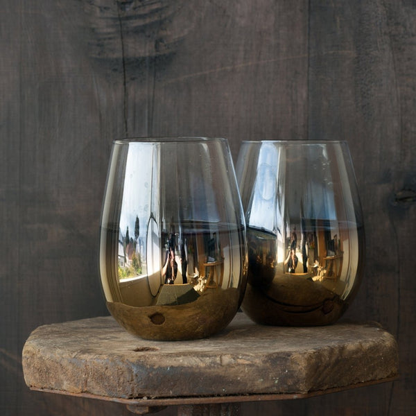 Cariso Gold Stemless Glasses 4pc Boxed Set