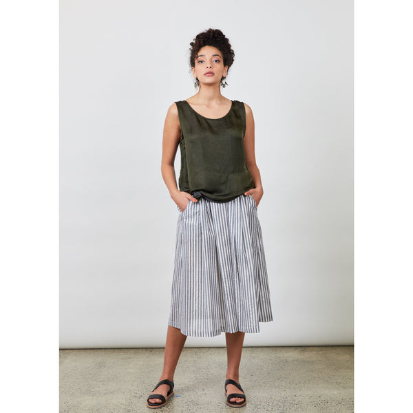 Millie Top - Olive Womens Clothing 8,10,12,14 Dalston