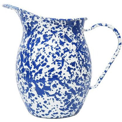 Blue & White Crow Marbled Pitcher