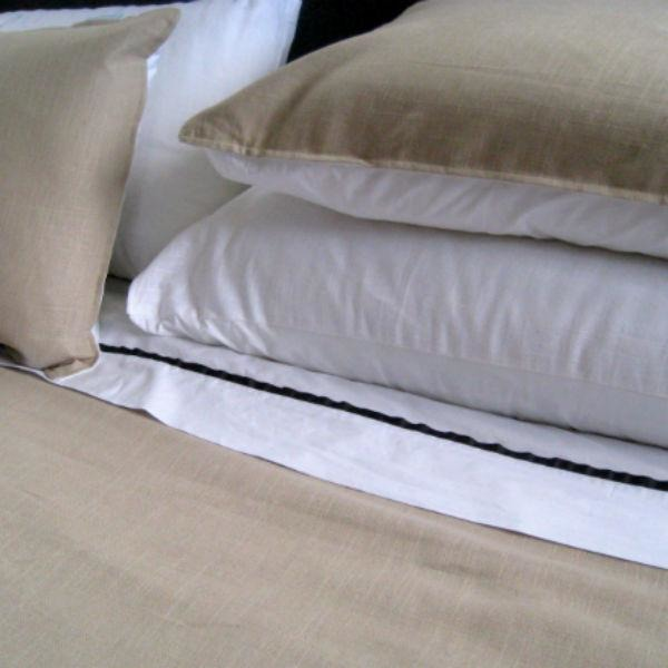 Taupe Linen Cotton King Size Pillowcase, NZ made bed linen