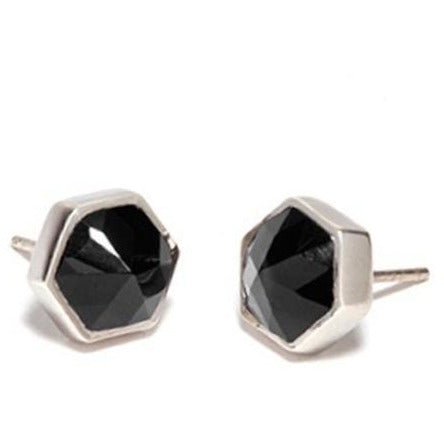 Six Reasons Onyx Stud Earrings - 2 Colours Earrings Silver Cathy Pope