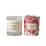 George & Edi Classic Range Standard Soy Candle Grapefruit & Mint  Candle NZ Made