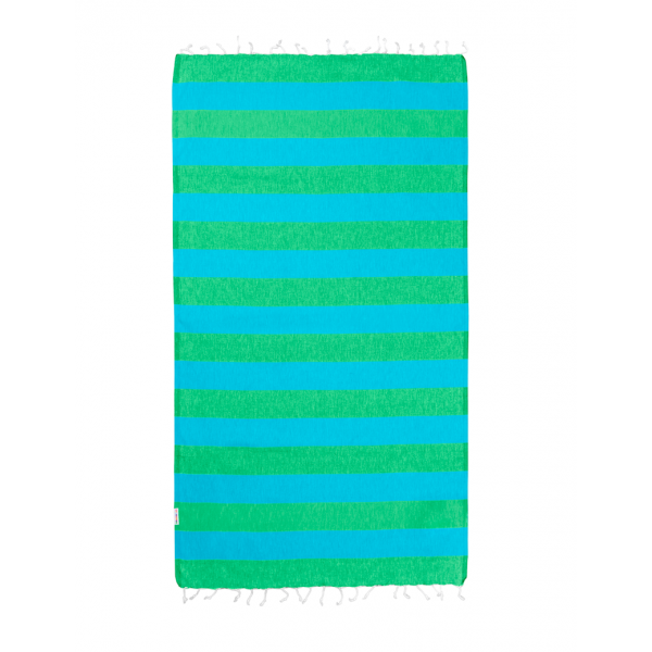 Hammamas Turkish Towel Bold Aqua/Apple
