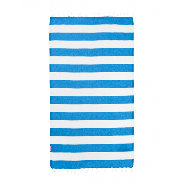 Hammamas Turkish Towel Bold Azure/White