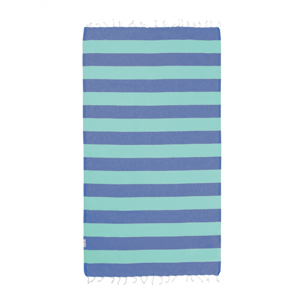 Hammamas 100% Cotton Turkish Towel Bold Spearmint/Azure