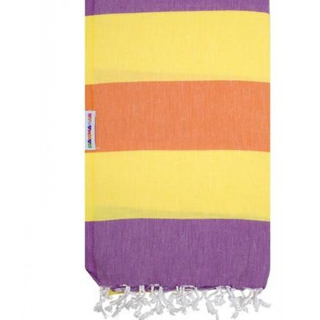 Hammamas 100% Cotton Turkish Towel Clash Daisy/Grape/Orange