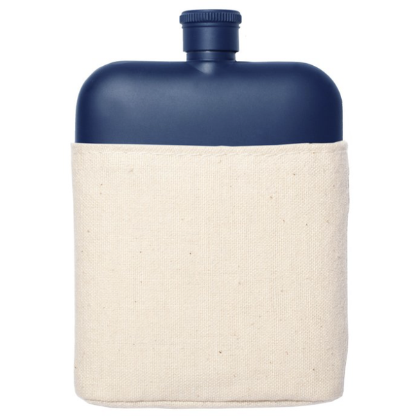 Izola Navy Flask with Canvas Cover