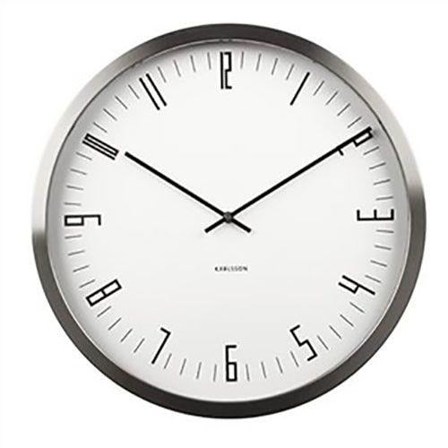 Karlsson Wall Clock 'Case Indexed' White