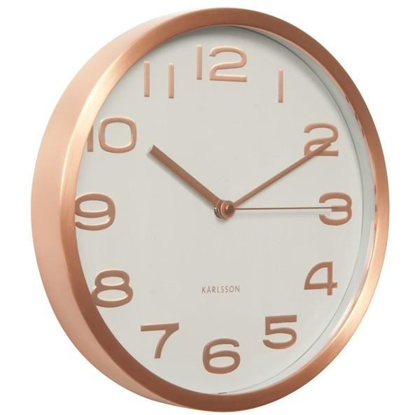 Karlsson Maxie Copper Clock with numbers