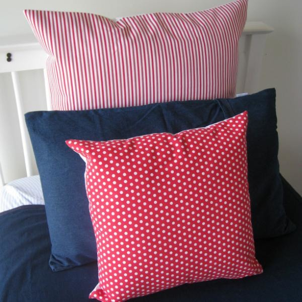 Candy Stripe Euro Pillowcase, Cotton bed linen, NZ made bed linen