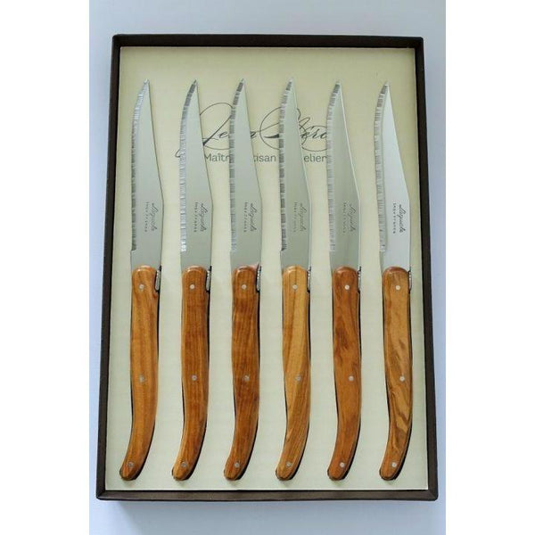 Laguiole Olive Wood Steak Knives