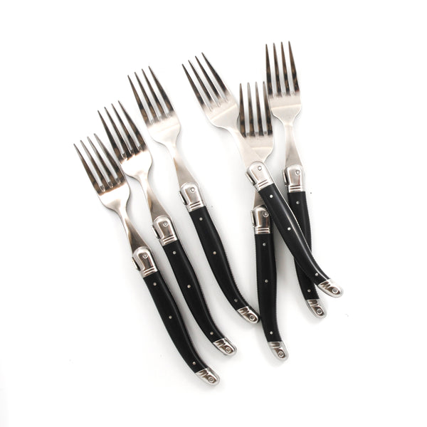 French Laguiole Black Table Forks