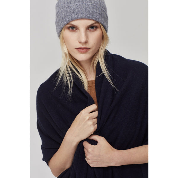 Laing Pure Cashmere Beanie - Charcoal grey marle