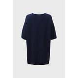 Elk Clothing Navy Letta Sweater, Elk NZ Stockist