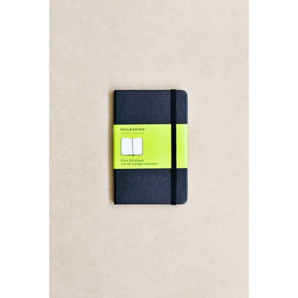 Moleskine Classic Hardcover Notebook Pocket Black Plain