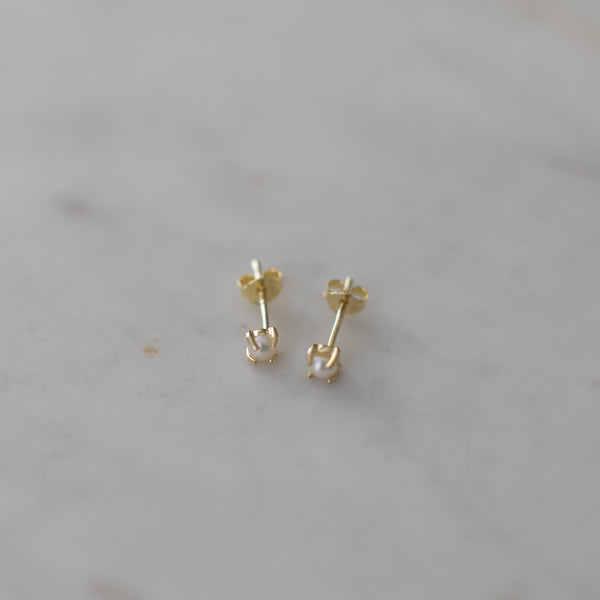 Sophie Mini Pearl Stud Earrings