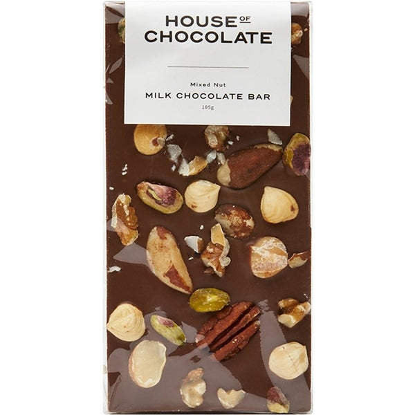 House of Chocolate Mixed Nut Milk Chocolate Bar NZ Made