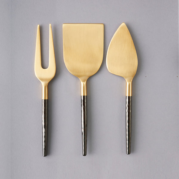 Nel Lusso Santo Cheese Knife Set, Nel Lusso Stockist, 3 piece cheese knife set.