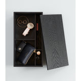 Tokyo Black Accessories Box with Mirror Jewellery Holders Black,Natural Nel Lusso