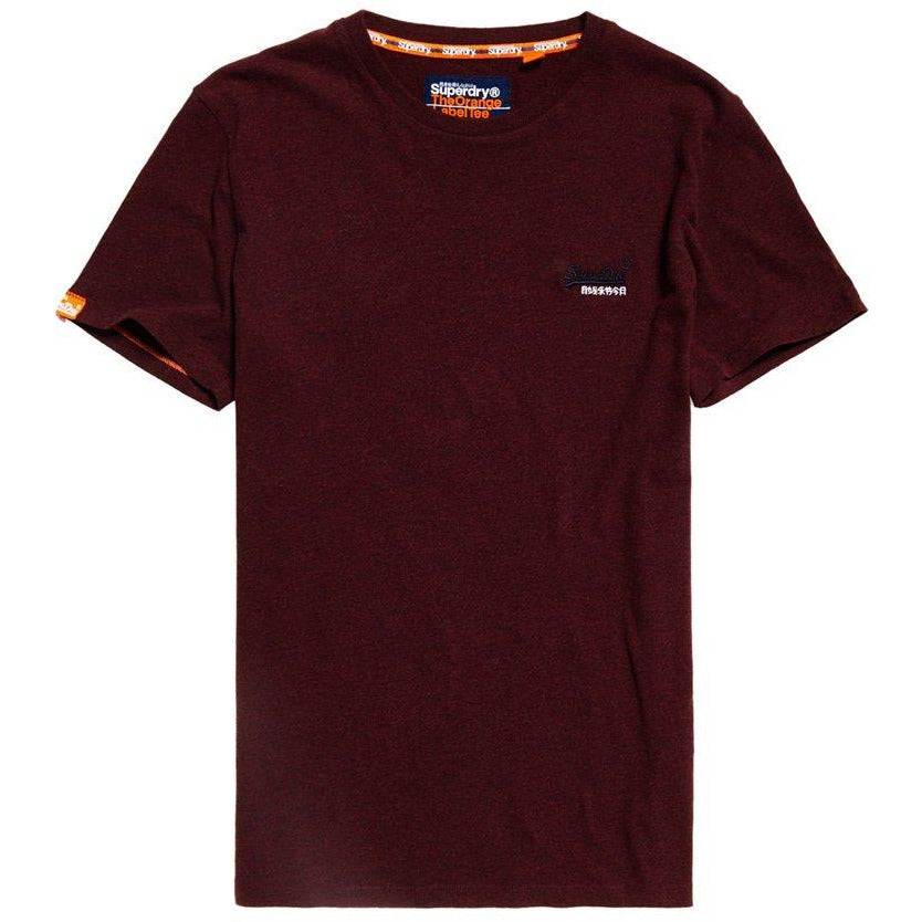 Orange Label Vintage Embroidery Tee - Boston Burgundy Mens Clothing 2XL / Boston Burgundy Grit,3XL / Boston Burgundy Grit,XL / Boston Burgundy Grit,L / Boston Burgundy Grit SuperDry