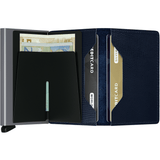 Secrid Slimwallet Wallet Rango Blue Titanium Leather Wallet, Aluminum Credit Cardprotector Mens Wallets Womens Wallets