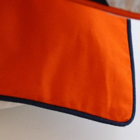 Orange Cotton Piped Pillowcases