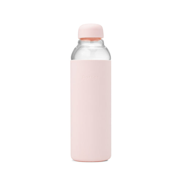 Glass Water Bottle - 3 Colours Water Bottles Blush Porter