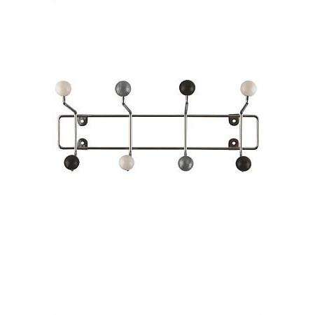 Coat Rack - Saturn Black, White and Silver