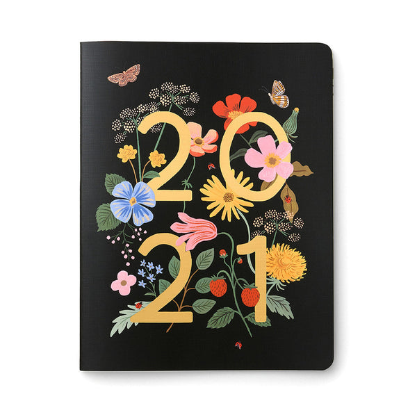 2021 12 Month Appointment Notebook - Wild Garden Calendars + Diaries Default Title Rifle Paper