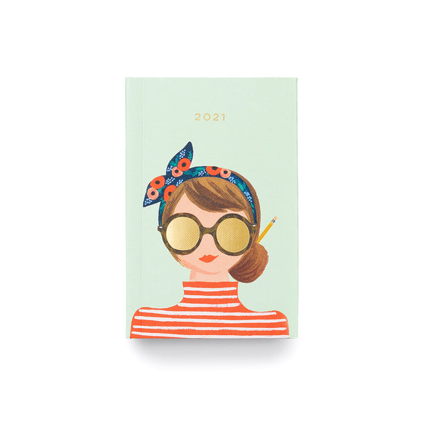 2021 12 Month Pocket Planner - Sunglasses Girl Calendars + Diaries Default Title Rifle Paper