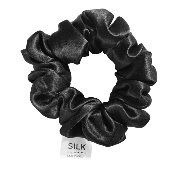 Pure Silk Scrunchie - 5 Colours Bath + Body + Skin Black Silk Magnolia