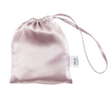 Pure Silk Eye Mask & Travel Pouch - 5 Colours Bedroom Accessories Artic White/Storm Cloud,Black piped with Arctic White,French Navy piped with Ivory,Silver Mist/Storm Cloud,Tea Rose/Silver Mist,Silver Mist Silk Magnolia