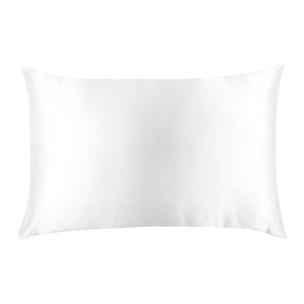 Pure Silk Pillowcase in Gift Box - 7 Colours Bedding Arctic White Silk Magnolia