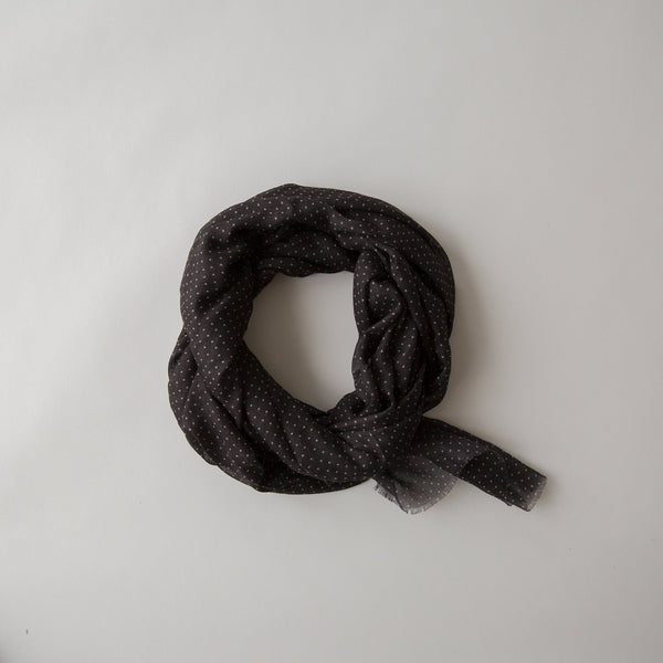 Sophie Store Spots Maxi Scarf - Black Sand