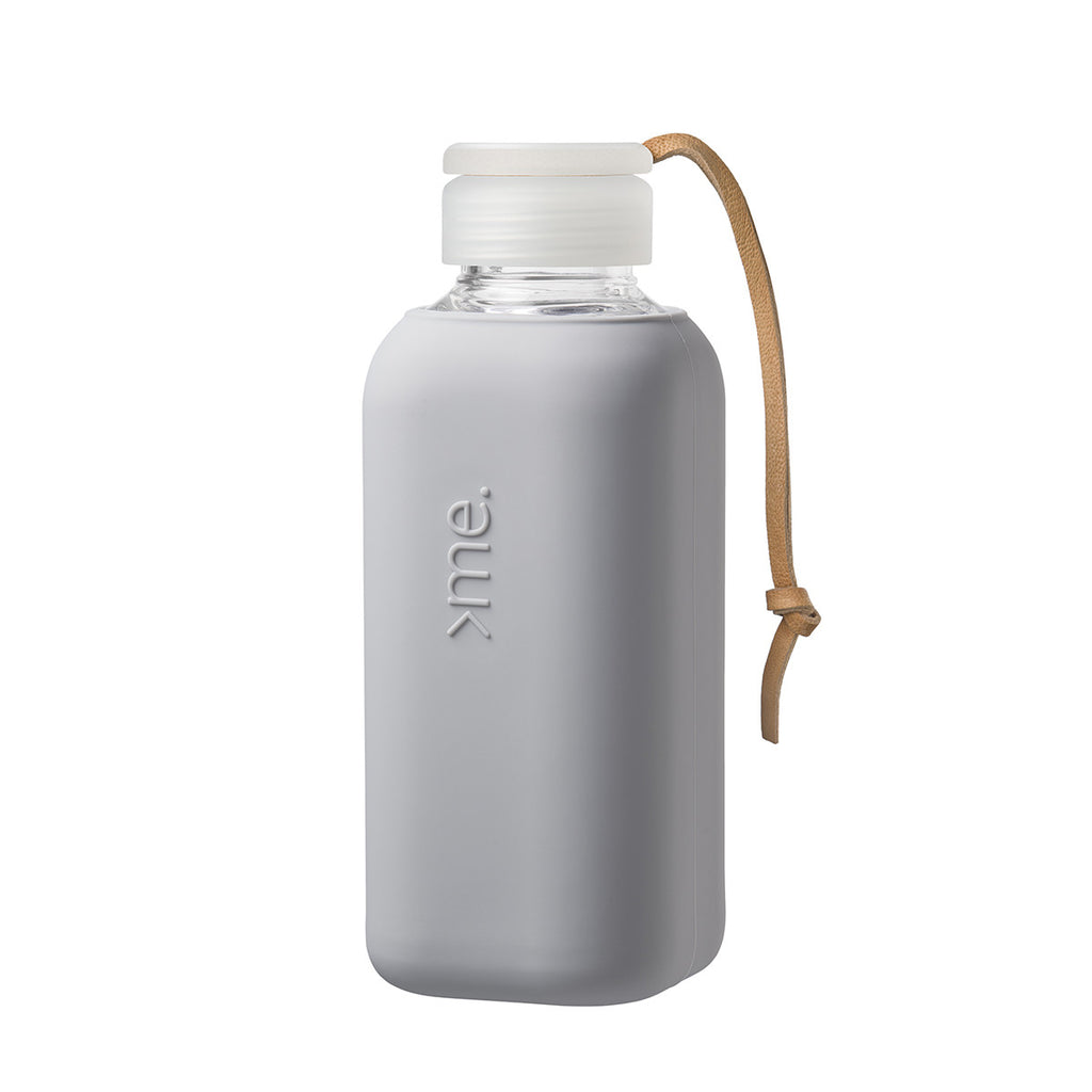 Y1 Collection 600ml Glass Water Bottle - 5 Colours Lunch Boxes + Water Bottles Concrete Squireme