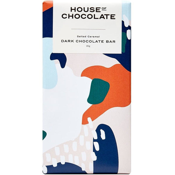 House of Chocolate Salted Caramel Dark Chocolate Bar NZ Made